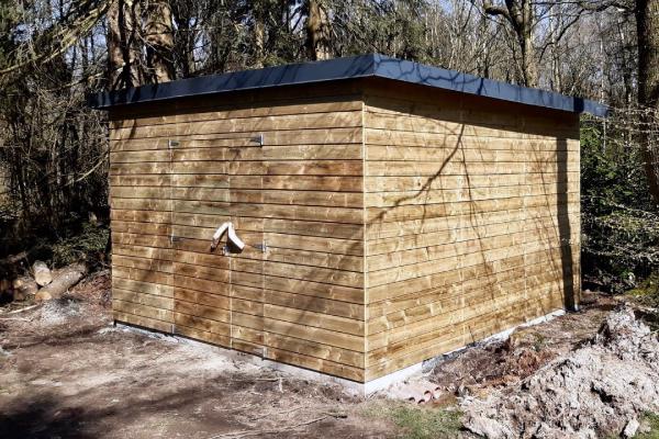 Pool house réalisé à Gomzée