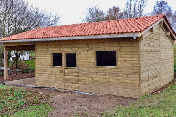 Grand atelier-garage réalisé à Orp-Jauche