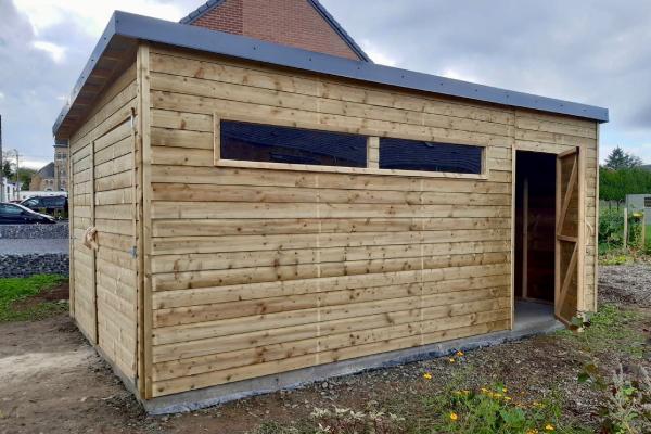 Garage en bois réalisé à Sprimont